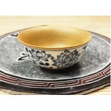 Пиала Синий Пион глина / глазурь ручной росписи (50 мл)