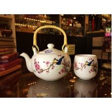 Чайный Набор ♥ Восход 7 предметов (чайник и 6 чашек) керамика