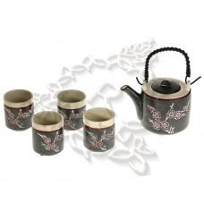 Купить Чайный Набор на 4 персоны ♥ Сакура Чайник и 4 чашки (керамика)