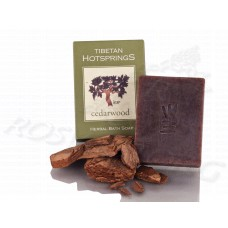 Кедр твердый шампунь натуральный Tibetan Hotsprings Cedarwood Herbal Bath Soap (100г) Непал